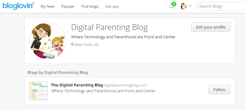 bloglovin app