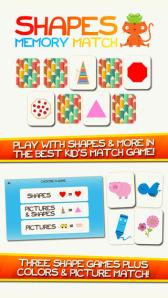 Shapes Memory Match! Shape Learning Game for Kids